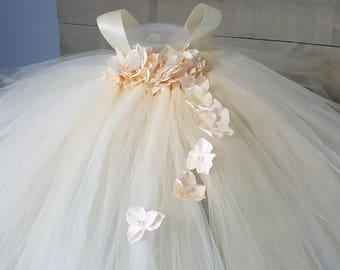 Beige Flower Girl Dresses