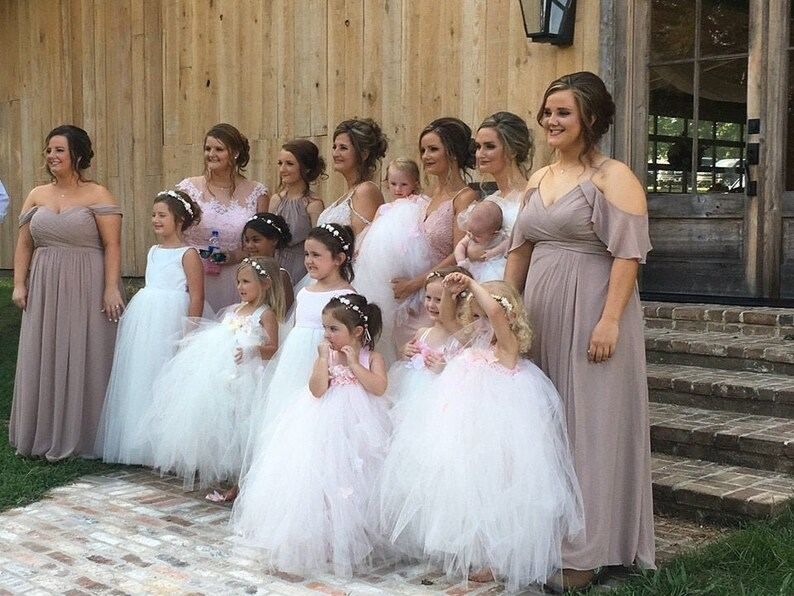 Ivory flower girl tutu dress Hydrangea tutu dress Toddler tutu dress Girls dress Blush tutu dress Wedding dress. Ivory tutu dress