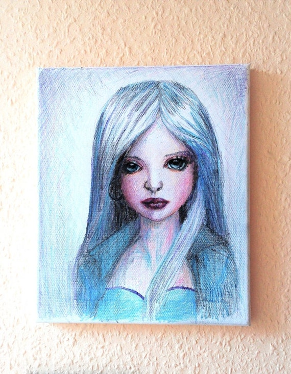 Doll Portrait Drawing Tween Canvas Quotes Childrens Wall
