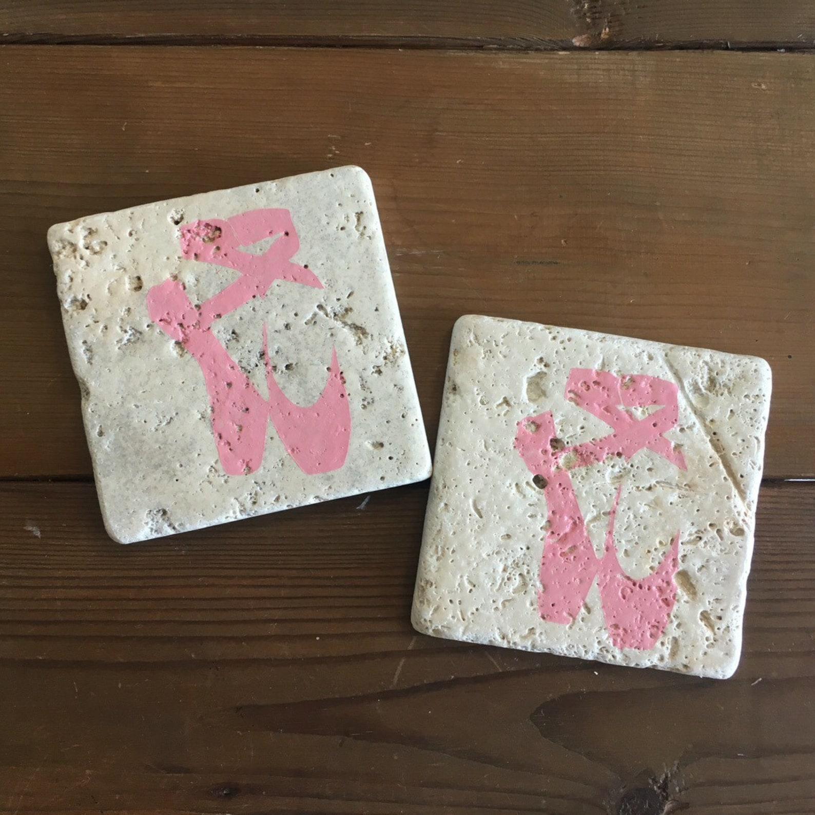 tumbled stone ballet coasters