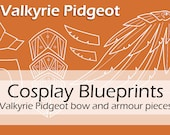 Digital blueprints 'Valkyrie Pokemon Pidgeot bow and armour pieces' by Pretzl Cosplay - PDF