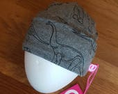 Cute newborn baby hat with cool dinosaur print