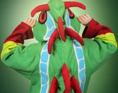Super comfy frog dragon cosplay kigurumi (onesie, jumpsuit, costume, hoodie, wings, tail, gothic, fantasy)