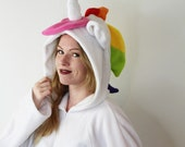 Rainbow unicorn cosplay kigurumi onesie (different mane and tail colour options) jumpsuit, romper, costume, hoodie, tail, fantasy, kawaii