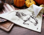 Adorable snowboard and motor bandana with elegant unicorn print! Original drawing printed on cotton fabric, warm and soft fleece lining