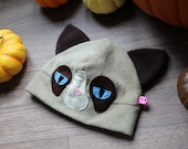 Funny and cute cat fleece cosplay beanie hat