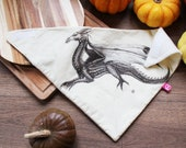 Awesome snowboard or motor bandana scarf with cool dragon art print! Original artwork by me printed on cotton fabric, soft fleece lining