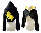 Loyal badger cosplay costume hoodie (shrug style), witch, witchy, wizard, gothic