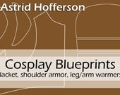 Digital cosplay costume blueprint/pattern 'Astrid Hofferson's jacket, shoulder armor, arm and legwarmers' by Pretzl Cosplay - PDF