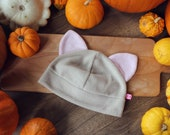 Cat hat in natural color (different colors to choose from! Light grey, dark grey, beige, orange, white and black)