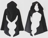 Witchy bat witch gothic cropped hoodie/shrug with really cool majestic bat sleeves and pointy hood