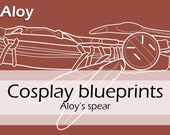 Digital cosplay costume blueprint/pattern 'Aloy's spear from Horizon Zero Dawn' by Pretzl Cosplay - PDF