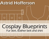 Digital cosplay costume blueprint/pattern 'Astrid Hofferson's skirt, belt and top' by Pretzl Cosplay - PDF