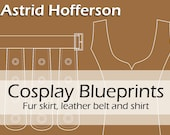 NEW Digital cosplay costume blueprint/pattern 'Astrid Hofferson's skirt, belt and top' by Pretzl Cosplay - PDF