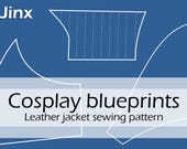 Digital sewing pattern 'Jinx leather jacket' (original design inspired by League of Legends) by Pretzl Cosplay - PDF