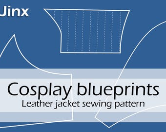 Digital cosplay pattern blueprints league of legends etsy digital sewing pattern jinx leather jacket original design inspired by league of legends by pretzl cosplay pdf malvernweather Gallery