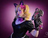 Signed Cosplay print of 'Overwatch - Black Cat Dva' cosplay by PretzlCosplay A4 size