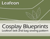 Digital blueprints 'Woodelf Leafeon belt and bag' by Pretzl Cosplay - PDF