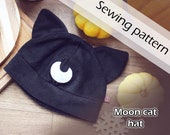 Digital sewing pattern 'Moon cat fleece hat' by Pretzl Cosplay - PDF