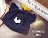 Digital sewing pattern 'Moon cat fleece hat' by Pretzl Cosplay - PDF
