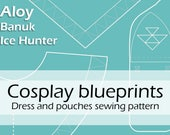 Digital blueprints 'Aloy Banuk Ice Hunter dress and pouches' by Pretzl Cosplay - PDF