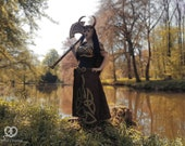 Signed Cosplay print of 'Lady Loki' with battle axe at the lake, cosplay by PretzlCosplay A4 size