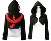 Red team cosplay costume hoodie (shrug style), gamer, nerdy, geeky, cosplay costume, halloween