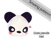 Digital sewing pattern 'Panda bear fleece hat' by Pretzl Cosplay - PDF