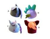 Fleece pony, dragon or unicorn filly cosplay beanie hat