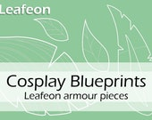 Digital blueprints 'Woodelf Leafeon armour pieces' by Pretzl Cosplay - PDF
