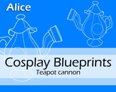 Digital prop making pattern 'Teapot cannon' (Alice madness returns cosplay) by Pretzl Cosplay - PDF