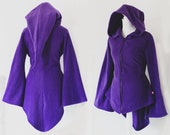 Elven sorceress witchy gothic hooded dress/tunic/sweater (with or without zipper!)