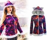 Galaxy cat hoodie (zippered hoodie)