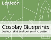 Digital sewing pattern 'Woodelf Leafeon leafy elven fantasy skirt' by Pretzl Cosplay - PDF