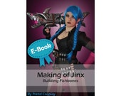 Cosplay Worbla and foam tutorial book 'Making of Fishbones (Shark bazooka prop from Jinx from League of Legends)' by Pretzl Cosplay - E-BOOK