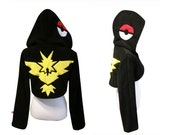 Team Yellow cosplay costume hoodie (shrug style), gamer, nerdy, geeky, cosplay costume, halloween