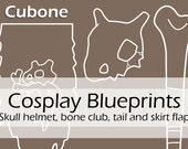 Digital blueprints 'Pokemon Cubone foam prop skull helmet, bone club, tail and skirt flap' by Pretzl Cosplay - PDF