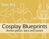 Digital blueprints 'She Ra sword, armor pieces and tiara' by Pretzl Cosplay - PDF