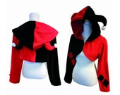 Jester clown cosplay costume hoodie (shrug style), comic, comicbook, comiccon, jester, clown, gothic, punk, rave party, festival
