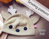 Digital sewing pattern 'Adorable deer fleece hat' by Pretzl Cosplay - PDF