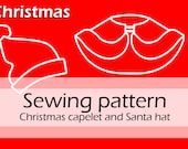 Digital sewing pattern 'Christmas assecoires' (Short fur trimmed capelet and Santa hat) by Pretzl Cosplay - PDF
