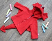 Red dragon baby/children hoodie, super cute gift for newborn, baby shower, cosplay halloween costume, fantasy, knights and princesses, smaug