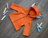 Fox baby/children hoodie, super cute gift for newborn, baby shower, cosplay halloween costume, forest critter, animal costume, kitsune, foxy