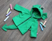Green dragon baby / children hoodie, super cute gift for newborn, baby shower, cosplay halloween costume, fantasy, knights and princesses