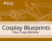 Digital cosplay costume blueprint/pattern 'Aloy's bow from Horizon Zero Dawn' by Pretzl Cosplay - PDF