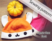 Digital sewing pattern 'Cute fox fleece hat' by Pretzl Cosplay - PDF