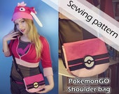 Digital sewing pattern 'PokemonGO trainer shoulder bag' by Pretzl Cosplay - PDF