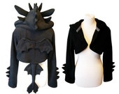 Black dragon cosplay costume hoodie (shrug style), fantasy, gothic, dark, witchy, witch, wiccan, drake, halloween costume