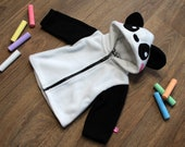 Panda baby/children hoodie, super cute gift for newborn, baby shower, cosplay halloween costume, kawaii, japan style, animal costume, bear