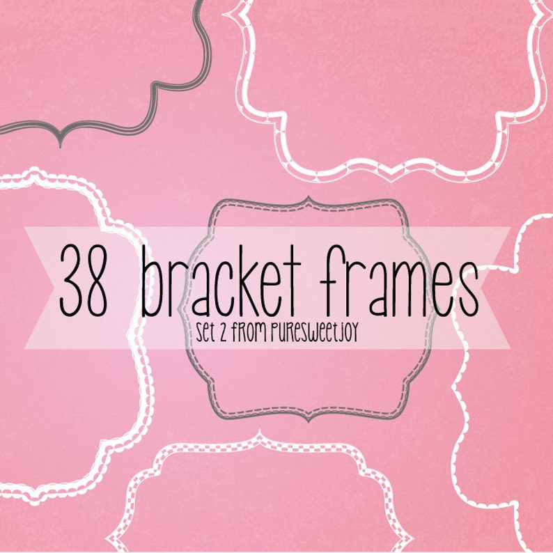 38 bracket frame borders with detail. Instant download. 19 image 0